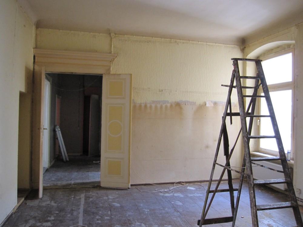 Wohnung Dielenboden vorher